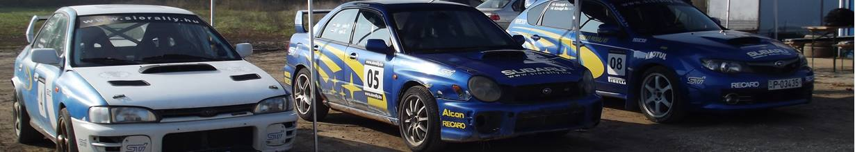 Subaru rally élményvezetés